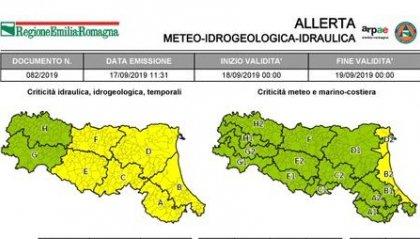 Maltempo: allerta gialla per temporali in Emilia-Romagna