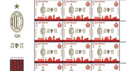 UNF: emissione postale per i 120 anni del Milan