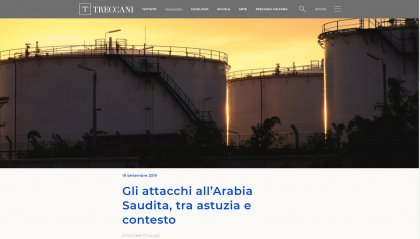 Gli attacchi all'Arabia saudita sotto la lente di Michele Chiaruzzi su Treccani