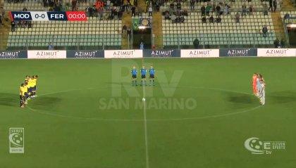 Modena - Feralpisalò 1-1: Rossetti illude i canarini, Maiorino pareggia