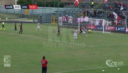 Il Vicenza travolge il Gubbio, pari tra Fermana e Samb