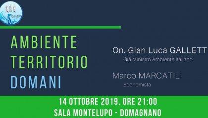 """""""Ambiente e Territorio"""", Gian Luca Galletti ospite della serata di DOMANI - Motus Liberi"""