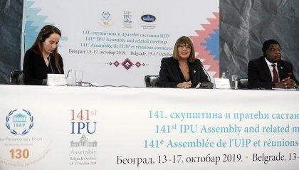 Marica Montemaggi, Mara Valentini e Teodoro Lonfernini in Serbia per l'Assemblea dell'UIP