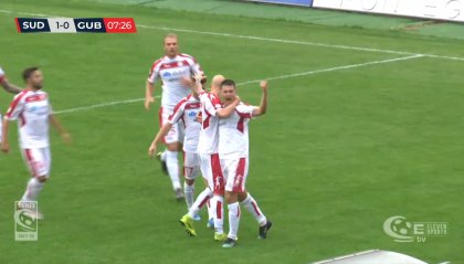 Sud Tirol – Gubbio 3-0. Doppietta per l'ex Casiraghi