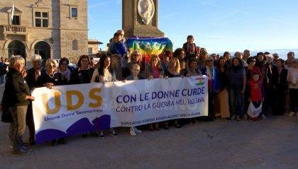 """""""Con le donne curde, contro la guerra nel Rojava"""". Unione Donne Sammarinesi in sit-in sul Pianello"""
