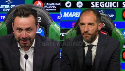 """De Zerbi: """"sono dispiaciuto"""". Stellini: """"Abbiamo fatto settanta minuti davvero bene""""."""
