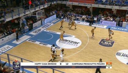 Pesaro perde a Brindisi per 108 a 99, decisivo Brown