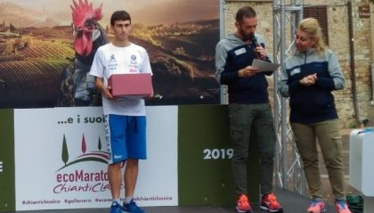 Il sammarinese Lorenzo Bugli sul podio alla Eco Maratona del Chianti