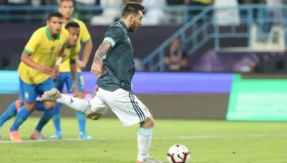 Messi torna e segna, l'Argentina batte il Brasile 1-0