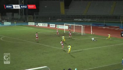 Rimini – Arzignano 0-2. Sconfitta che può costare cara al tecnico Cioffi