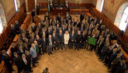 L'Associazione Nazionale Alpini in udienza dai Capitani Reggenti