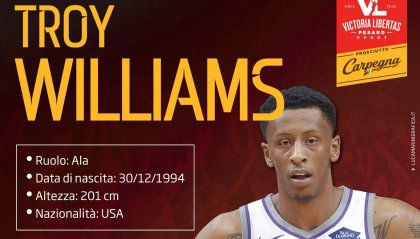 VL Pesaro, preso Troy Williams