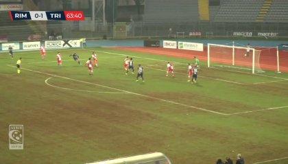 Serie C: per il Rimini è notte fonda. Al Neri passa anche la Triestina