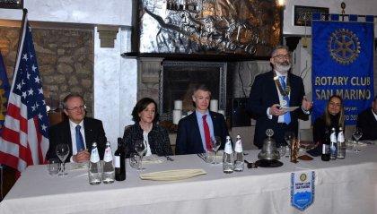Rotary Club San Marino. Relazione del Console Generale degli Stati Uniti d'America a Firenze Benjamin V. Wolhauer