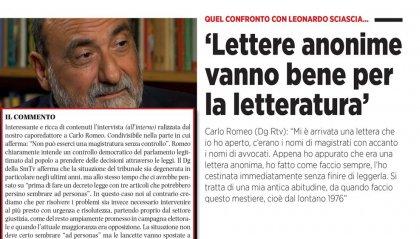 Il Dg Romeo su Repubblica.sm: lettere anonime, giustizia e carcere