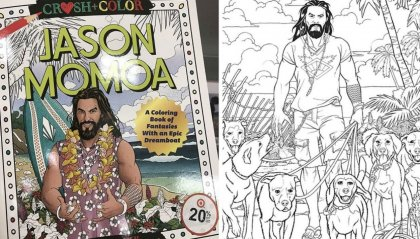 "Jason ""Momamma!"" Momoa ha un suo album da colorare"