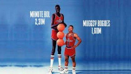 Manute Bol e Muggsy Bogues: il più alto e il più basso di sempre
