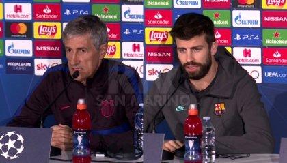 """Barcellona, Quique Setien e Piquè in coro: """"Dobbiamo temere il NapolI"""""""
