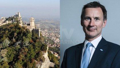 """Jeremy Hunt, ex ministro degli esteri britannico: """"Non dimentichiamoci di San Marino"""""""