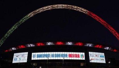 Coronavirus: Wembley illuminato per 90 minuti con il tricolore italiano