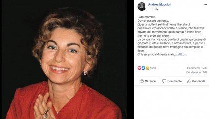 È morta Maria Antonietta Muccioli; lo annuncia il figlio Andrea