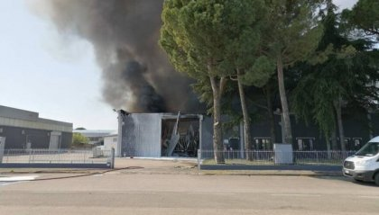 Spento incendio in impianto industriale a Forlì
