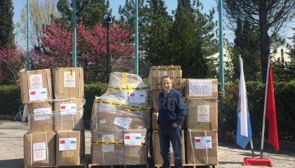 Associazione San Marino - Cina: arrivate in Repubblica 30.000 mascherine e 1.500 tute protettive