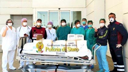 Anps dona dispositivi di protezione al personale dell'Ospedale