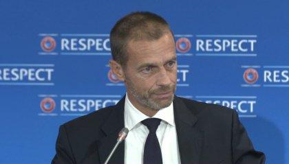 """Uefa irremovibile: """"Cerchiamo la soluzione per riprendere a giocare"""""""