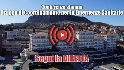 Conferenza stampa del Gruppo Coordinamento Emergenze Sanitarie - SEGUI LA DIRETTA