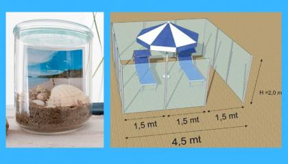 Polemica sui social per i box di plexiglass in spiaggia