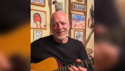 David Gilmour e il duetto con il pulcino