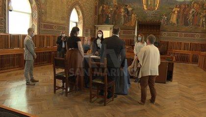Matrimoni civili: prima celebrazione a Palazzo Pubblico dopo l'emergenza covid