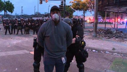 Minneapolis: giornalista della Cnn arrestato durante una diretta