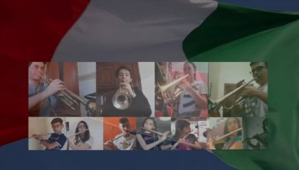 Festa della Repubblica Italiana: un'orchestra sinfonica di giovani musicisti omaggia l'inno nazionale