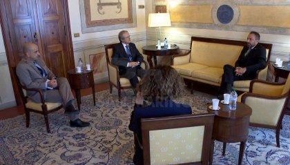 Incontro a Palazzo Begni tra il Segretario di Stato agli Esteri e l'Ambasciatore d'Italia