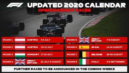 F1: ecco il calendario delle prime gare del Mondiale