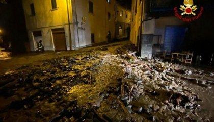 Smottamenti nel Bolognese, strade come torrenti
