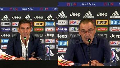 La Juve domina il derby e va in fuga: le parole di Sarri e Longo