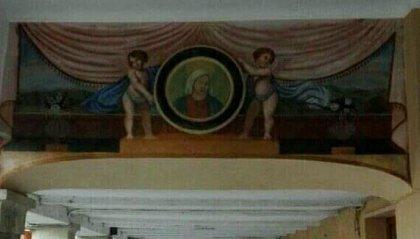 Presentazione del restauro della pittura muraria a Borgo Maggiore