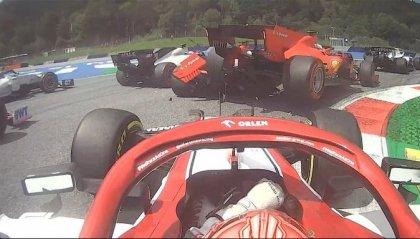 F1, disastro Ferrari: Leclerc centra Vettel, entrambi fuori al primo giro