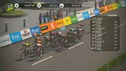 """Tour de France virtuale, Ovett trionfa nella tappa """"spezza-gambe"""""""