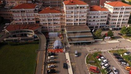 Chiuso accesso e parcheggi sul retro dell'Ospedale di Stato
