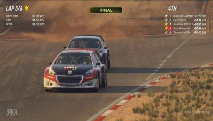 Rallycross Virtuale, trionfo di Hansen