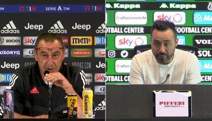 Sassuolo-Juventus, il pre di Sarri e De Zerbi