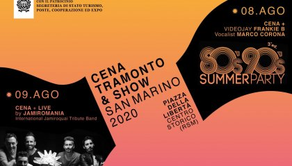 Cena, tramonto & show: San Marino 2020