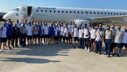Il Tre Fiori è arrivato a Ginevra. Domani a Nyon la sfida valida per il mini girone preliminare di Champions League