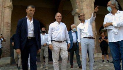 Il Principe Alberto di Monaco a Rimini. Visite a Fulgor, Teatro Galli e Grand Hotel