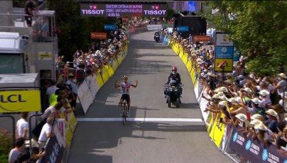 Delfinato, Formolo vince la terza tappa dopo 70 chilometri di fuga solitaria