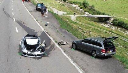Bugatti Chiron e Porsche 911 si scontrano: 3,5 mln di euro di danni
